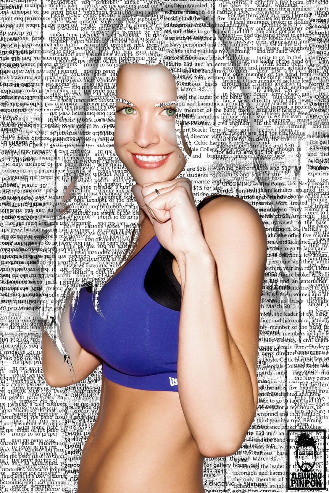 Gemma Atkinson newspaper by Alejandro Pinpon
