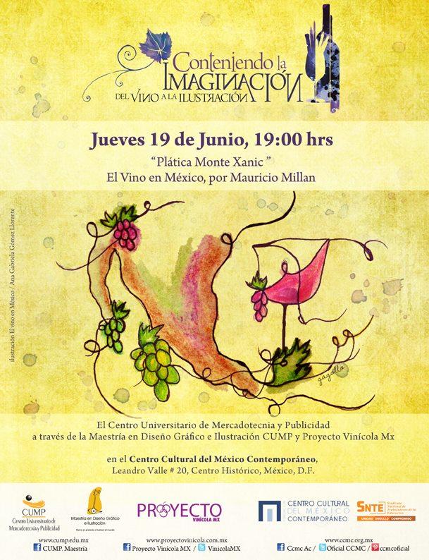 cartel del vino a al ilustración exposición cump maestría