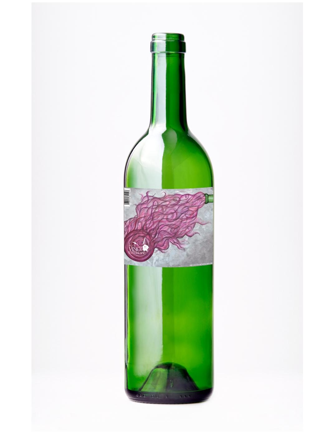 final botella del vino a al ilustración