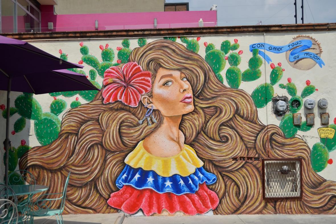 Alejandro Pinpon Mural Venezuela México en Querétaro fotos by Creatigre  completo mural.JPG